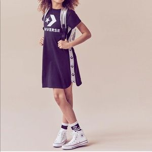 NWT Converse Star Black Chevron Track Dress, M